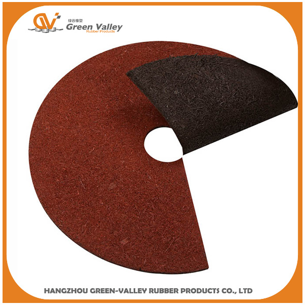 China Red SBR Rubber Wire Mulch Tree Ring - China Rubber Mulch Tree ...