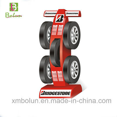 China Metal Tire Stand4040 Shelves Wheel Tyre Display Stand Display Cool Tire Display Stands