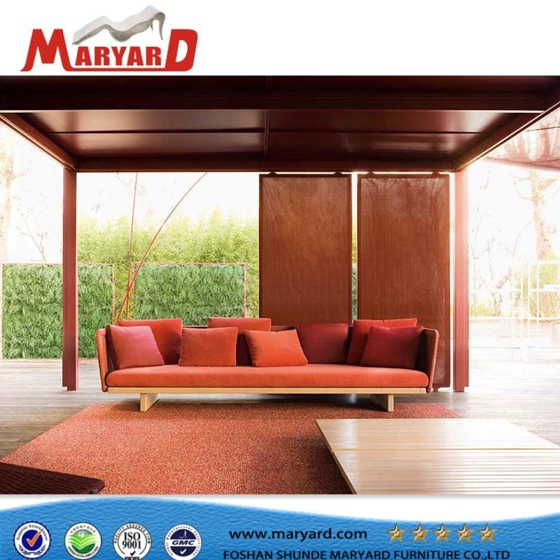 Magnificent China Hotsale Garden Furniture Outdoor Rope Sofa With Teak Spiritservingveterans Wood Chair Design Ideas Spiritservingveteransorg
