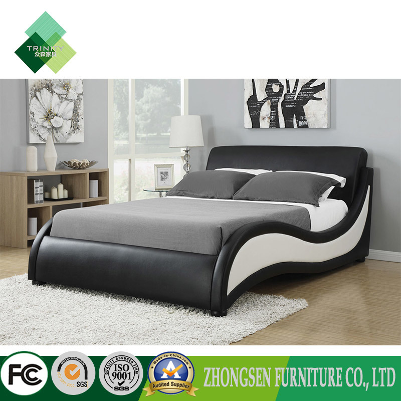 [Hot Item] The Best Quality Cheap Modern Style Contemporary Bedroom of  Hotel Furniture Sets Used Black and White Leather