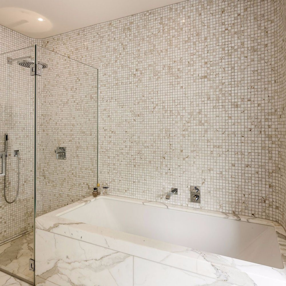 China Bathroom Wall Decorative Square Stained Glass Mosaic Tiles ...