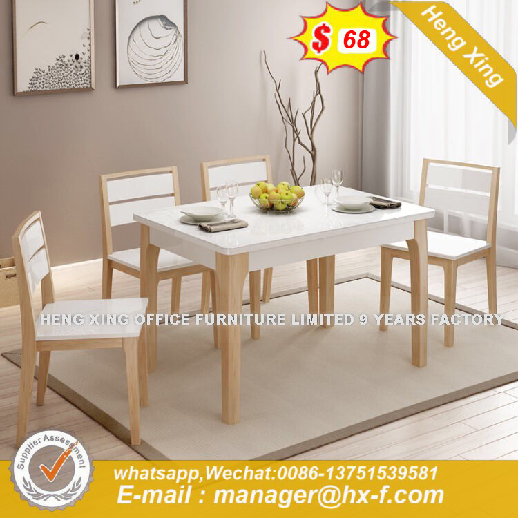 China Leisure Convenient Elegant Gl Top Retractable Dining Table Hx 8nd9076 Hotel Furniture Home