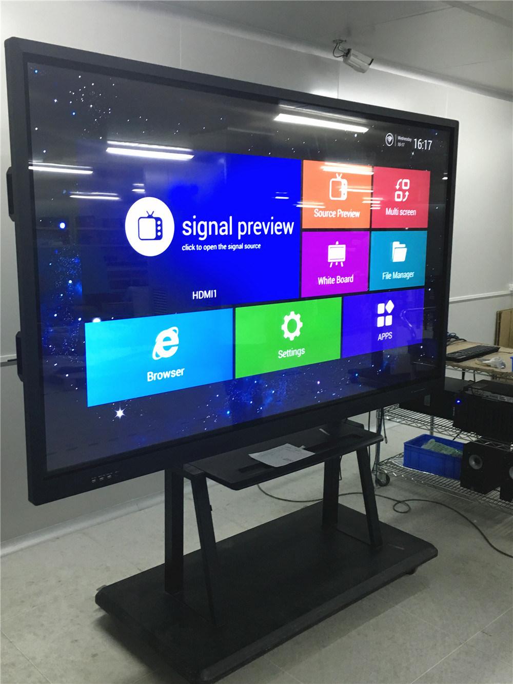 China HDMI VGA DVI AV Input electronic whiteboard kiosk 70inch