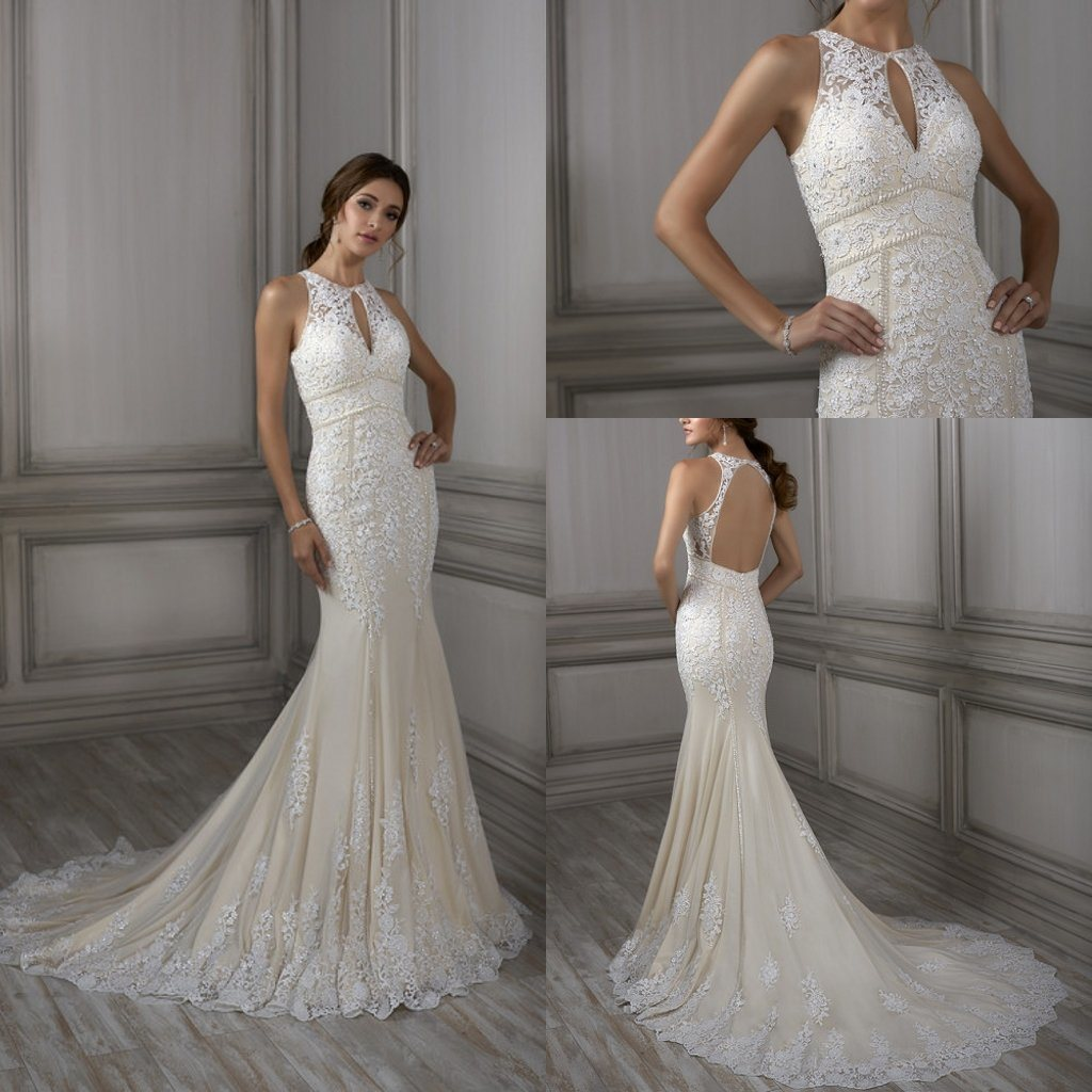 Lace Halter Wedding Gown: China Lace Wedding Dress Tulle Sleeveless Beach Halter