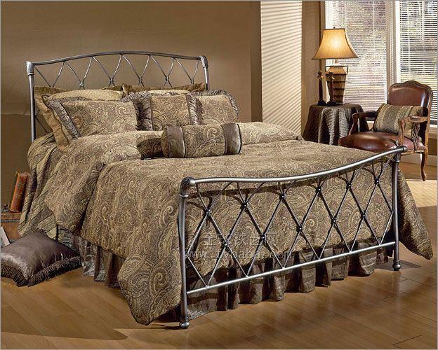 china antique iron bed (ol-b021) - china metal furniture