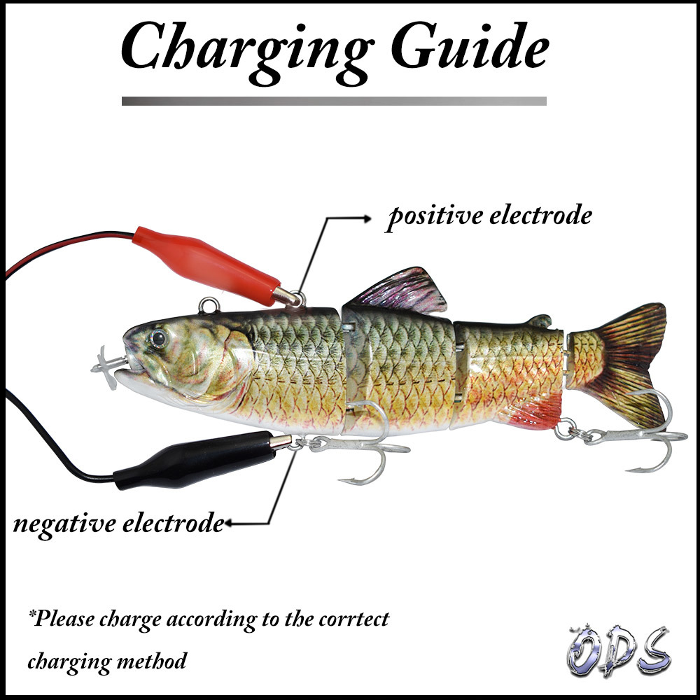 Details about  /ROBOTIC ELECTRONIC FISHING LURE 3D JOINTED USB RECHARGEABLE PIKE LIVE BAIT UK