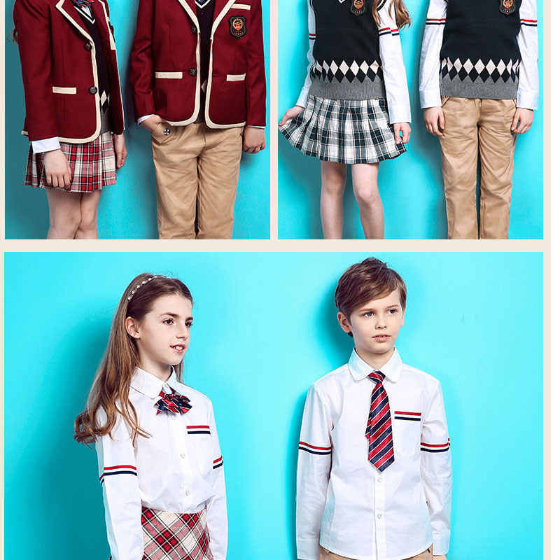 International School Design School Uniform for Kids of Cotton