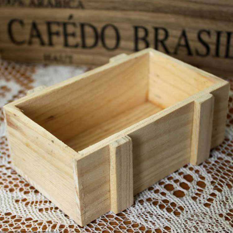 China Natural Colors Wooden Square Storage Box Case