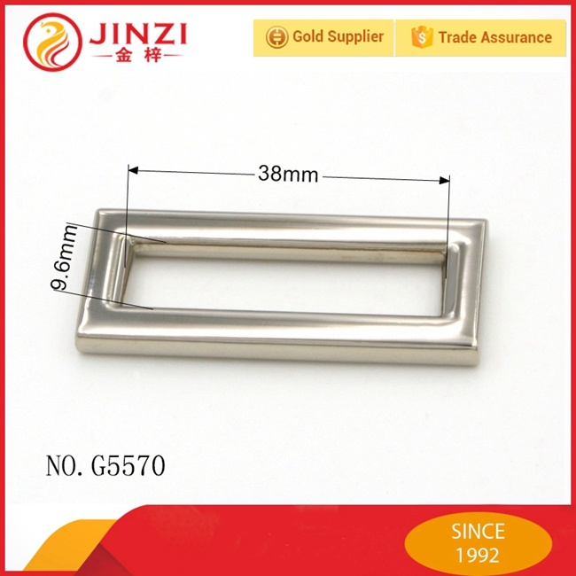 Square or Rectangle Shaped Zinc Alloy Slider Buckle