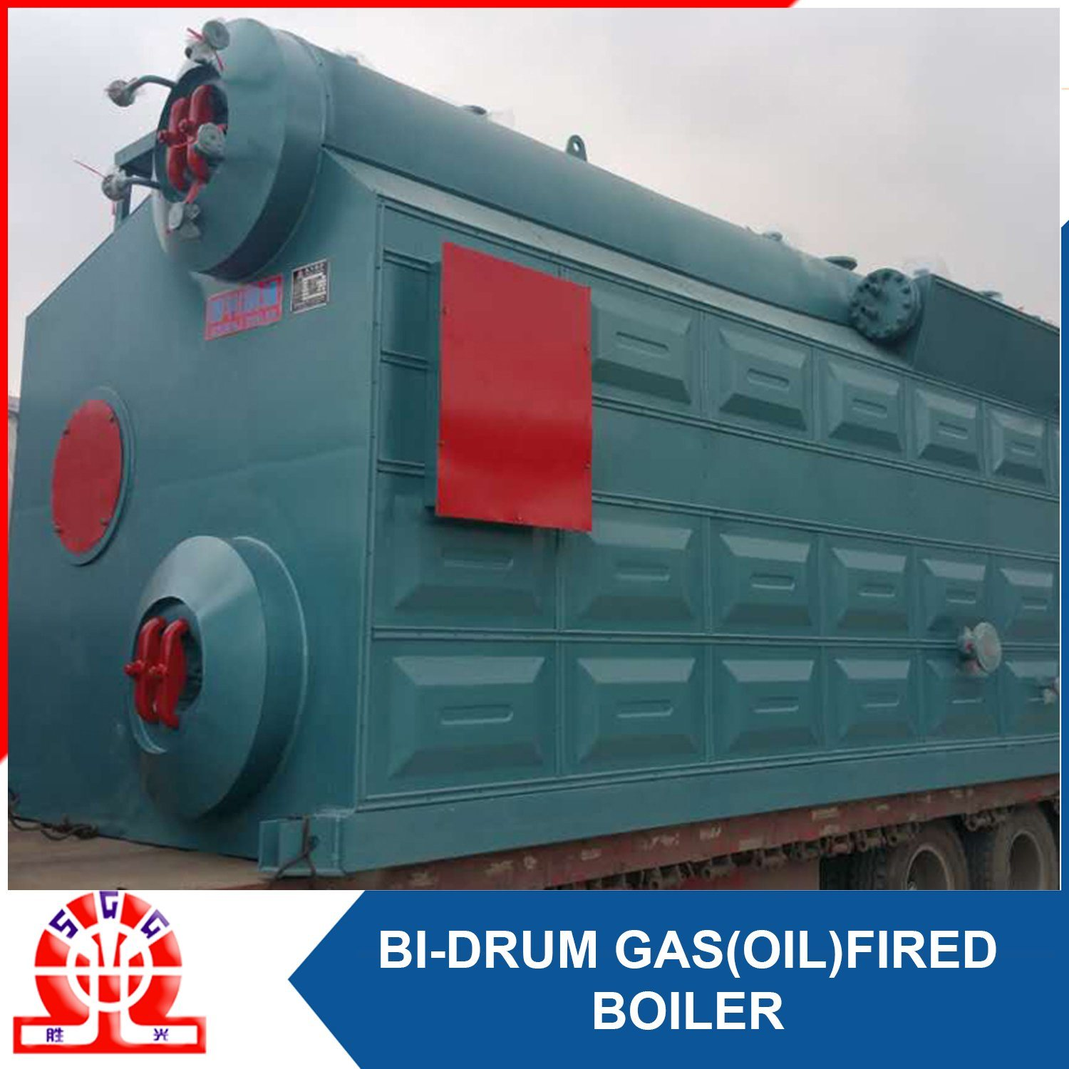 China Double Drum Gas Oil Fired Hot Water Boiler Photos & Pictures ...