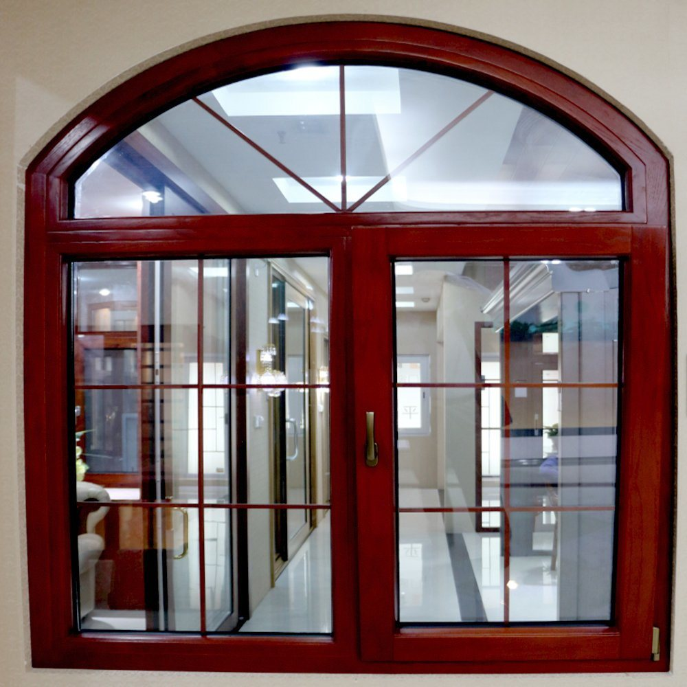 Round Arch Top Part Aluminum Frame Casement Swing Glass Door Window Design Sale China China Window Doors Design Steel Window Made In China Com