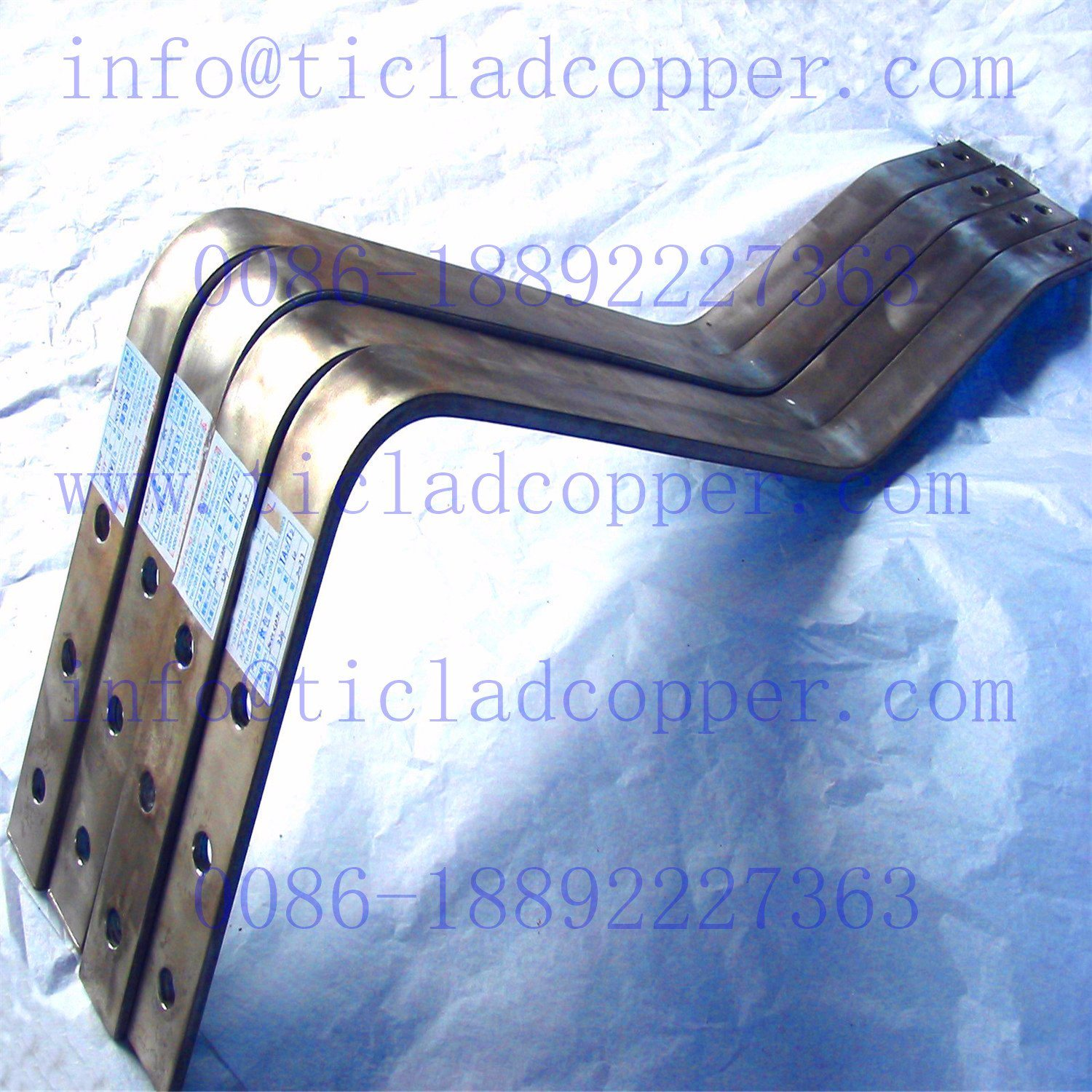 Titanium Clad Tu 2 Copper /Oxygen Free Copper Busbar for Galvanizing Lines pictures & photos
