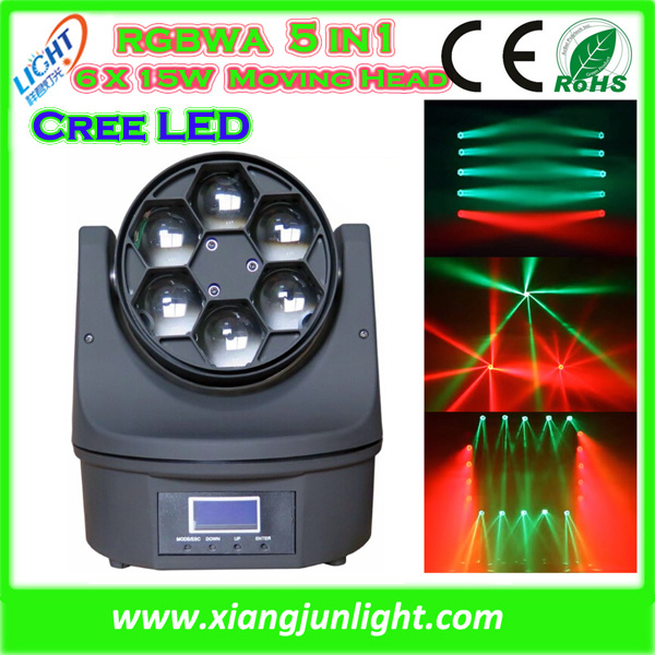 Bee Eye 6X10W RGBW 4in1 LED Moving Head Beam Wash Light