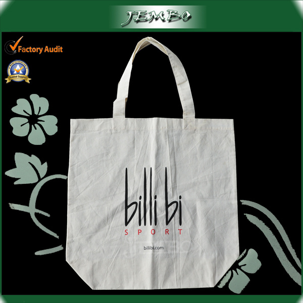 Fashion Popular OEM Durable Natural Cotton Tote Shopping Bag