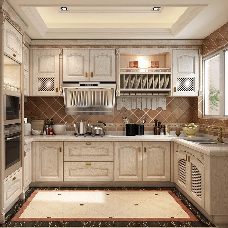 China Aisen Modular New Style White Solid Wood Kitchen Cabinet Design China Solid Wood Kitchen Cabinet Cherry Kitchen Cabinet