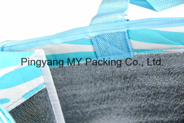 Best Promotional PP Non Woven or Woven Thermal Zipper Picnic Cooler Bag