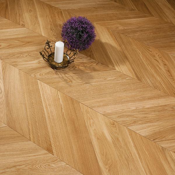 China White Oak Chevron Parquet Engineered Wood Flooring