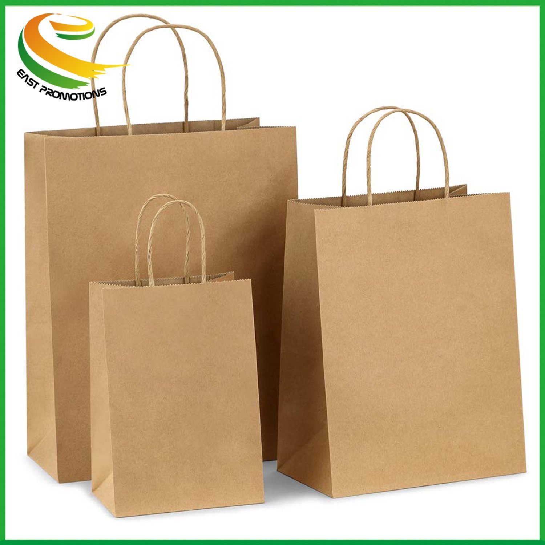 Hot Item Kraft Paper Bags Ping Bag With Handles