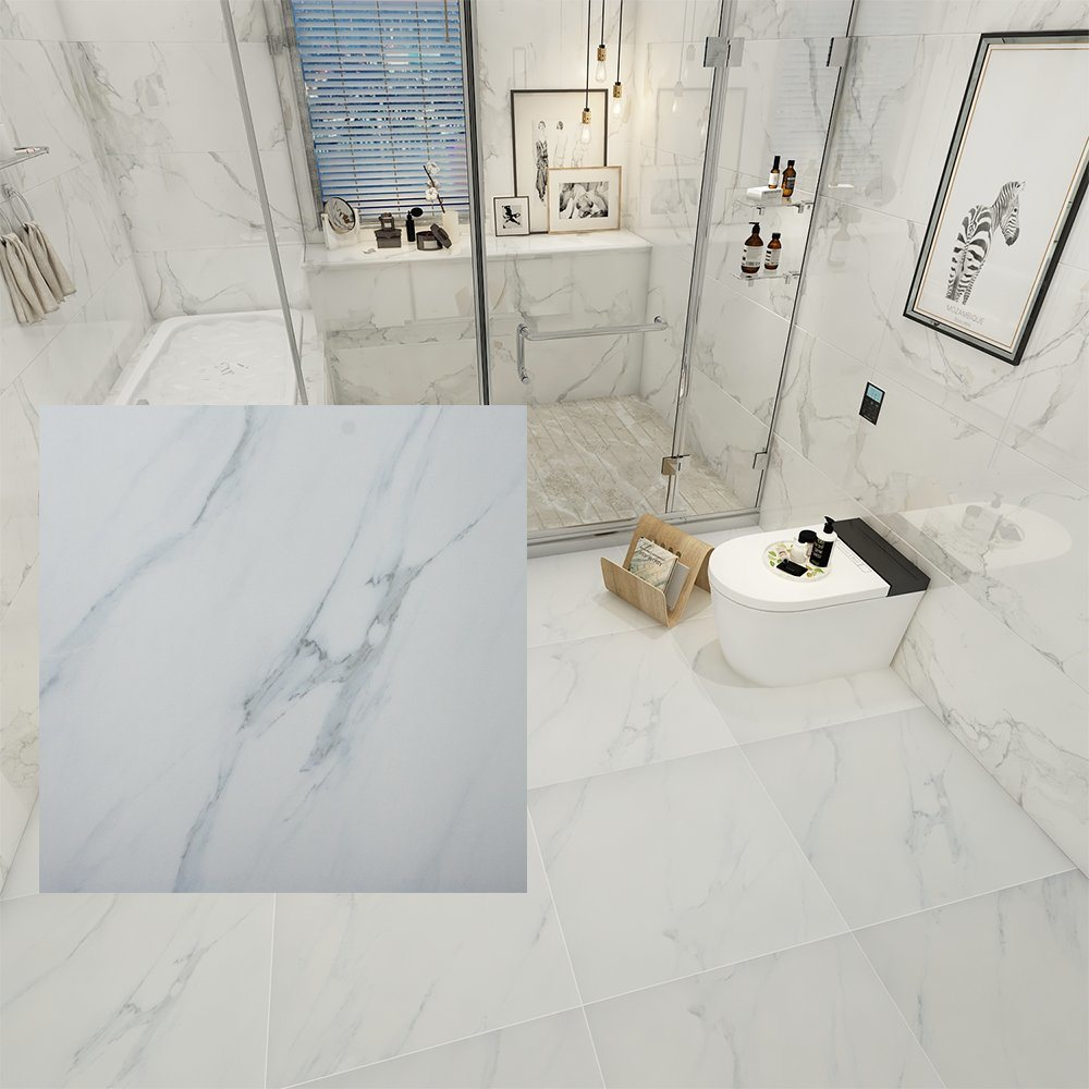 Carrara Marble Bathroom Floor Tile