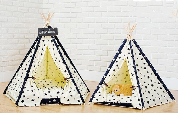 Foldable Indoor Wooden House for Pet Dog Cat Indian Tent pictures & photos