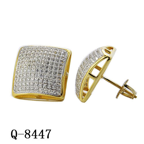 5dcaa03ef imitation Fashion Hip Hop Jewellery 925 Sterling Silver Diamond Iced out  Square Stud Earrings for Men