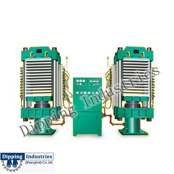 China Digital Control Pvc Floor Tile Making Machine Thermo Press