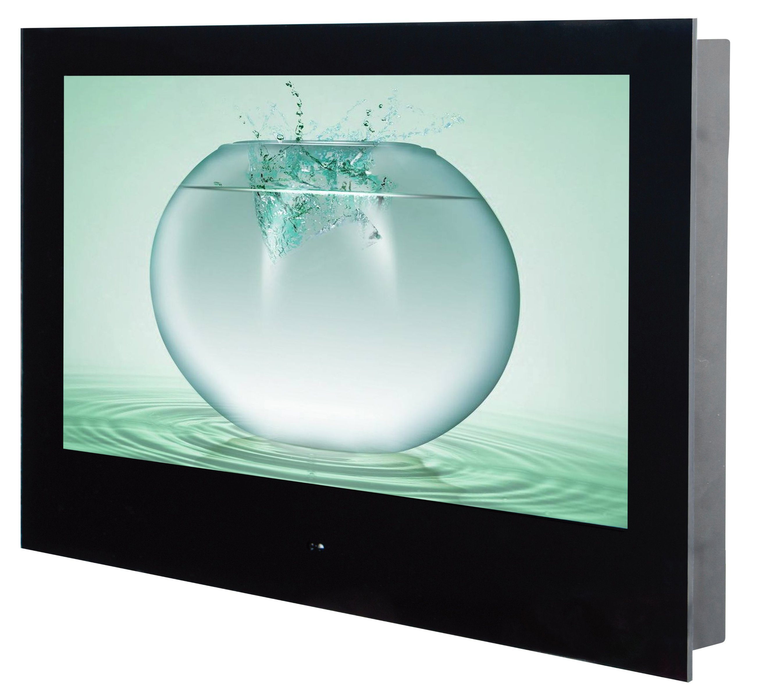 Hot Item 24 Led Waterproof Smart Tv In Bathroom Advertising Player With Rs232 And Vibration Speakers