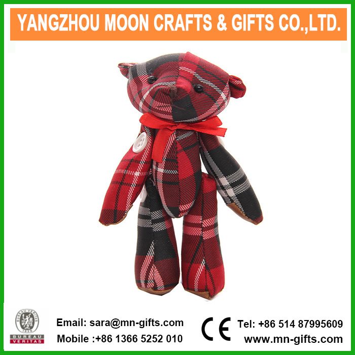 Customized Small Size Plush Fabric Joint Bear Stuffed Mini Plush Teddy Bear pictures & photos