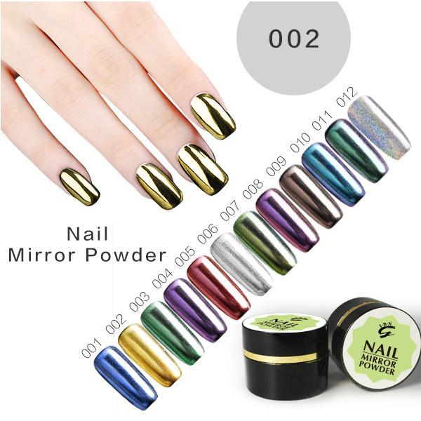 China New 2017 Start Metallic Pigment Nail Art Magic Chrome Mirror ...