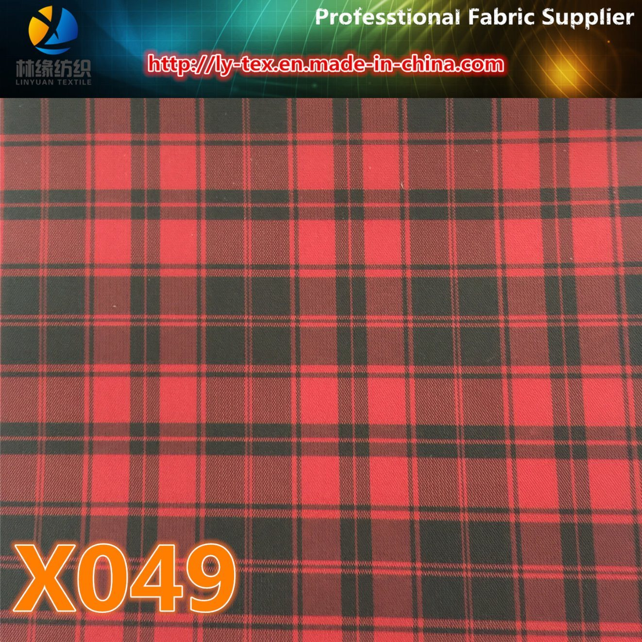 Prompt Goods. Polyeter Lining Check Fabric (X048-50) pictures & photos