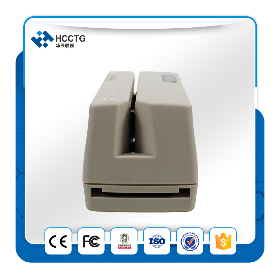 RS232 Interface Mini Msr206 Magnetic Stripe Card Reader Writer (HCC206R) pictures & photos