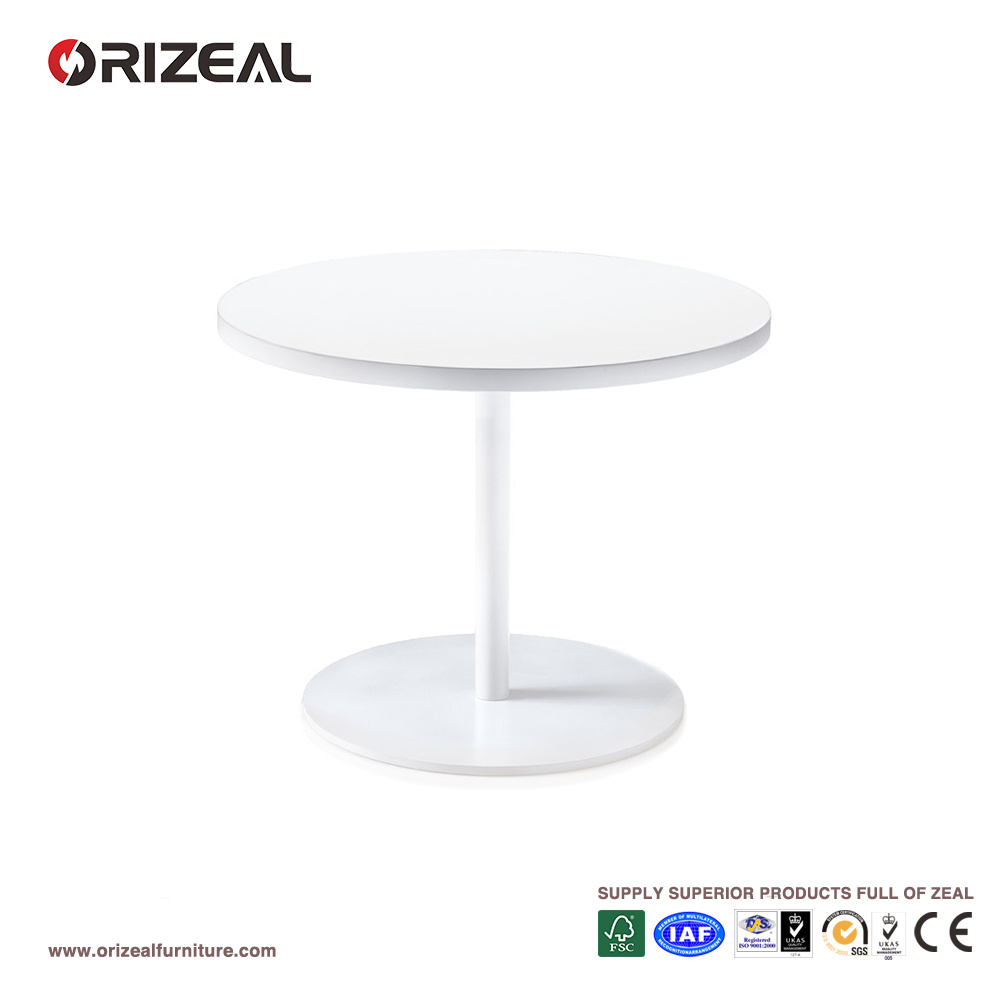 Hot Item Orizeal Small Round Coffee Table White Wood Side Oz Otb002