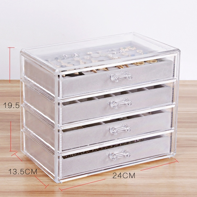 China Custom Large Capacity Clear Acrylic Jewelry Organizer With Drawers Photos Pictures Made In China Com