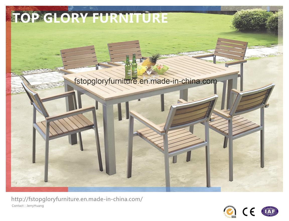 China Outdoor Aluminium Frame Polywood Furniture Dining Set Tg 1750