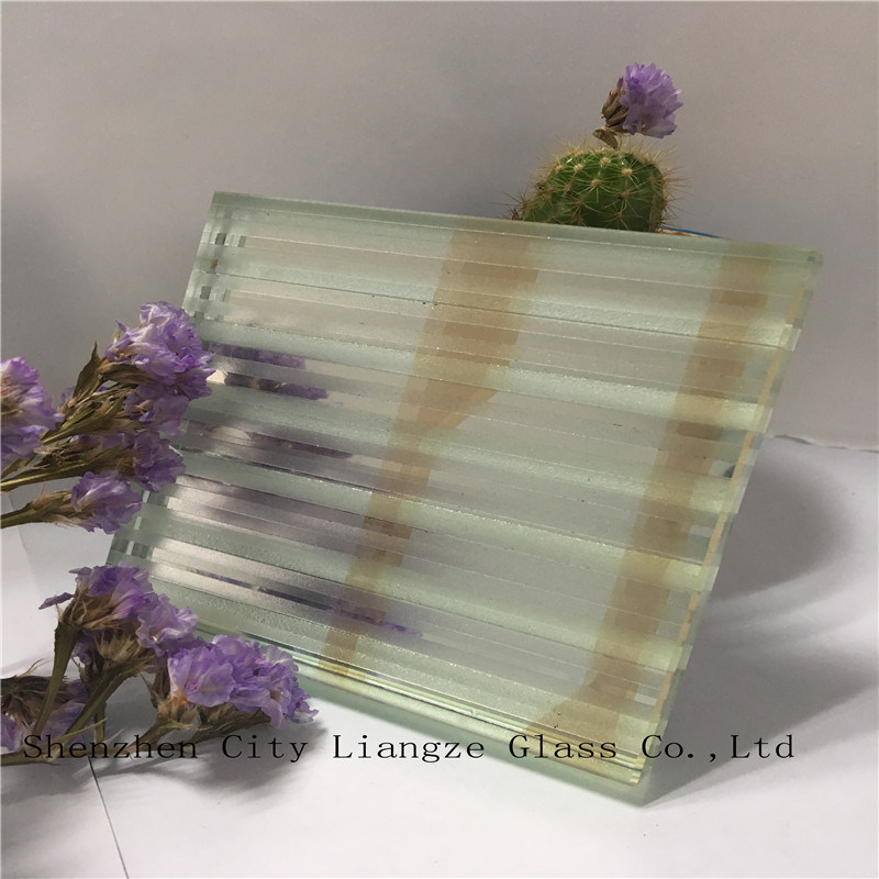 5mm+Silk+5mm Silvered Mirror Laminated Glass/Art Glass/Safety Glass for Decoration