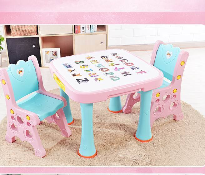 China New Kids Foldable Table And Chair Set Children S