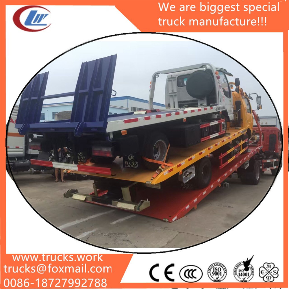 Dongfeng Used Trucks Second Hand Trucks Repro Towing Flatbed Tow Truck