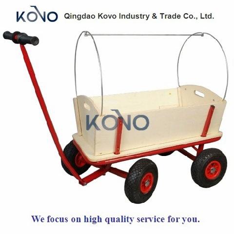 [Hot Item] Children Wooden Garden Cart Wagon