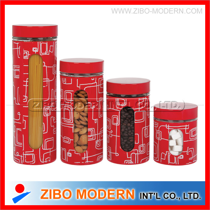Screen Printings Stainless Coating Glass Jar with Lid pictures & photos