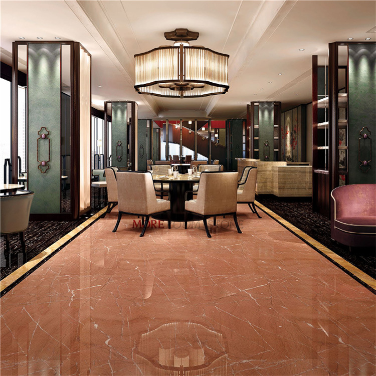 China Restaurant Hall Europe Red Marble