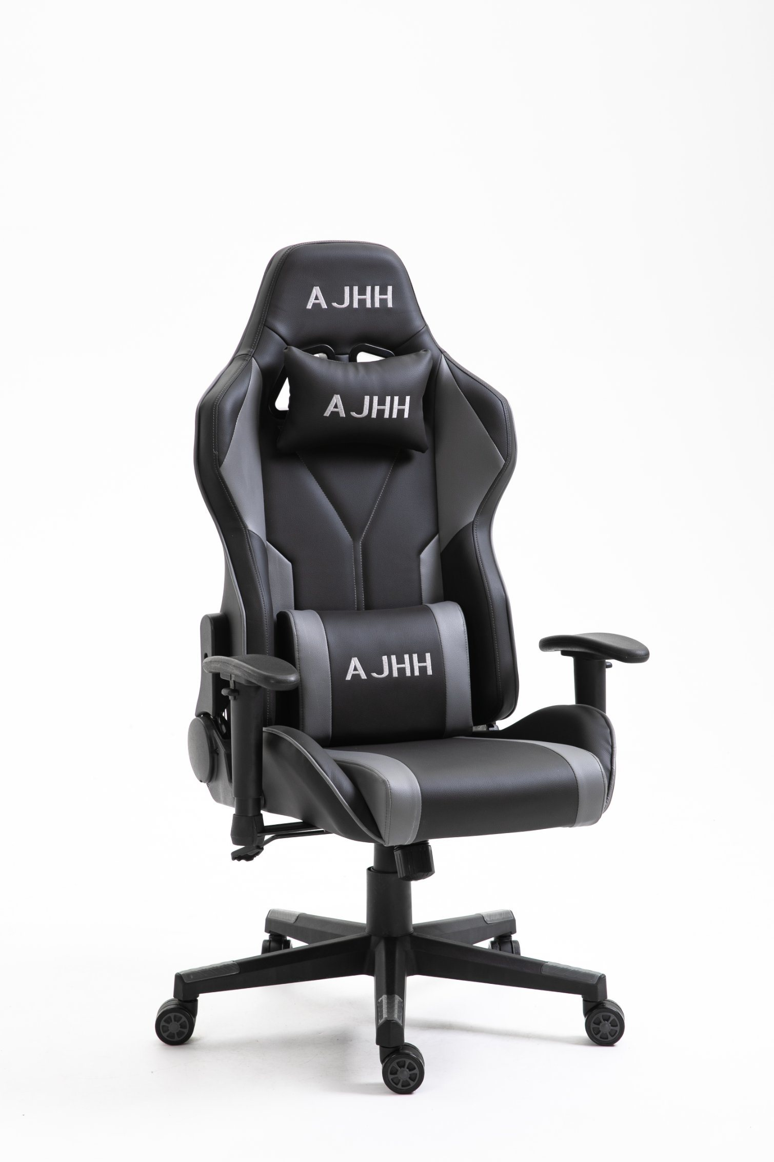 [Hot Item] Ergonomic Gaming Office Chair PU Leather Bucket Seat Racing Desk  Grey Computer Chairs