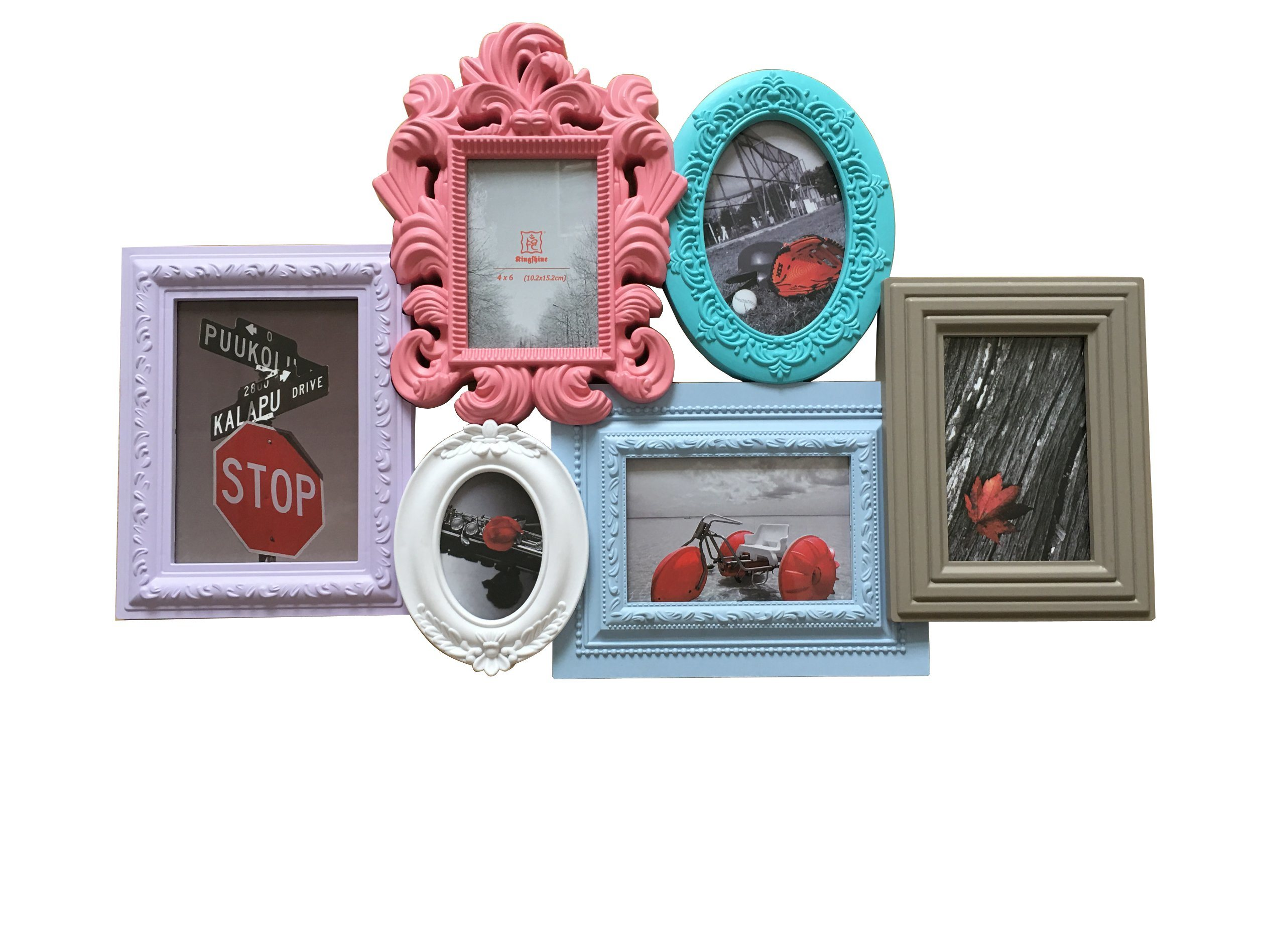 China Plastic Injection with Multi Colors 6 Opening Photo Frame ...