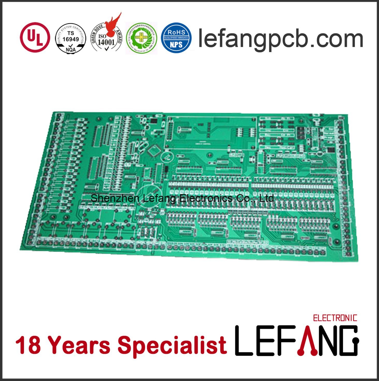 China Hasl Surface Treatment Pcb Printed Circuit Board Manufacturer Electronic Prototype Power Supply