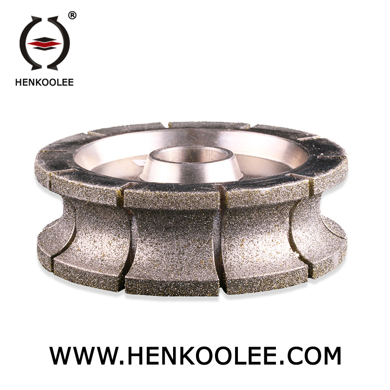 China Electroplated Diamond Grinding Profile Wheel For Glass Marble