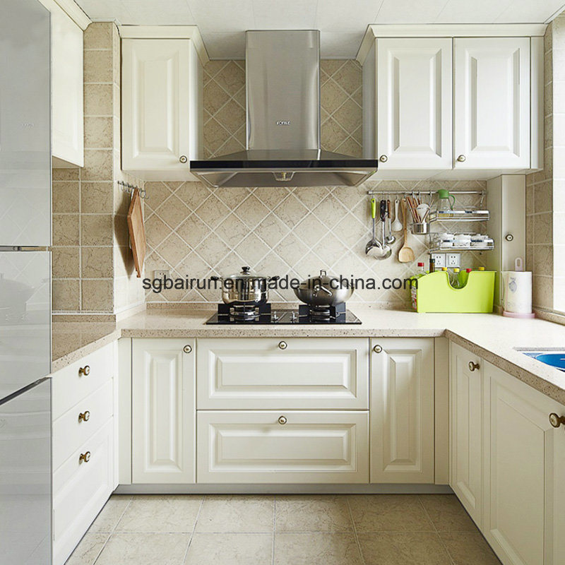 China American Shaker Wooden MFC White Melamine Kitchen