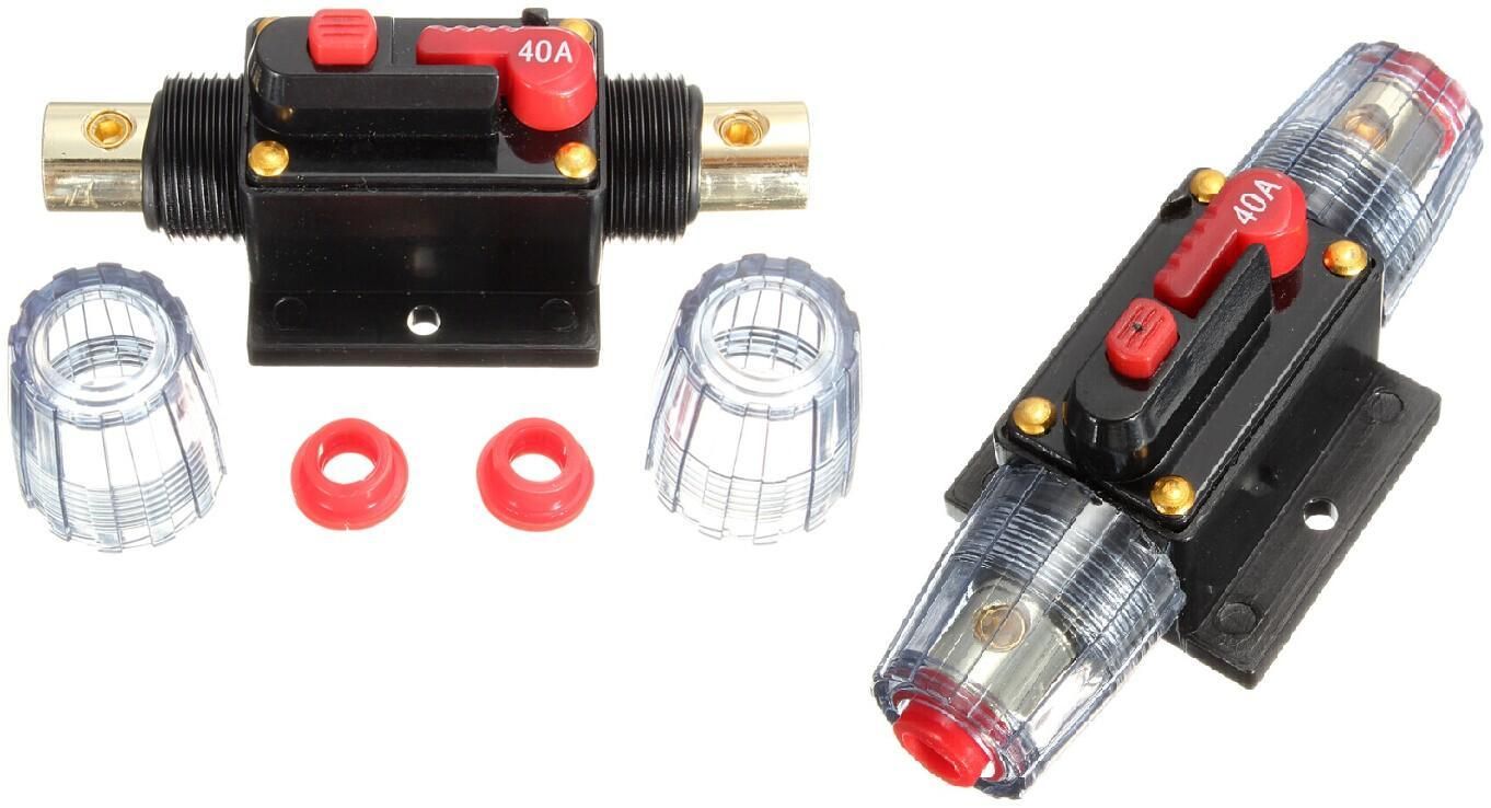China Dc 12v 40a Car Stereo Audio Circuit Breaker With Inline Fuse Breakers Stud Mount Auto Reset Automotive Protector Current