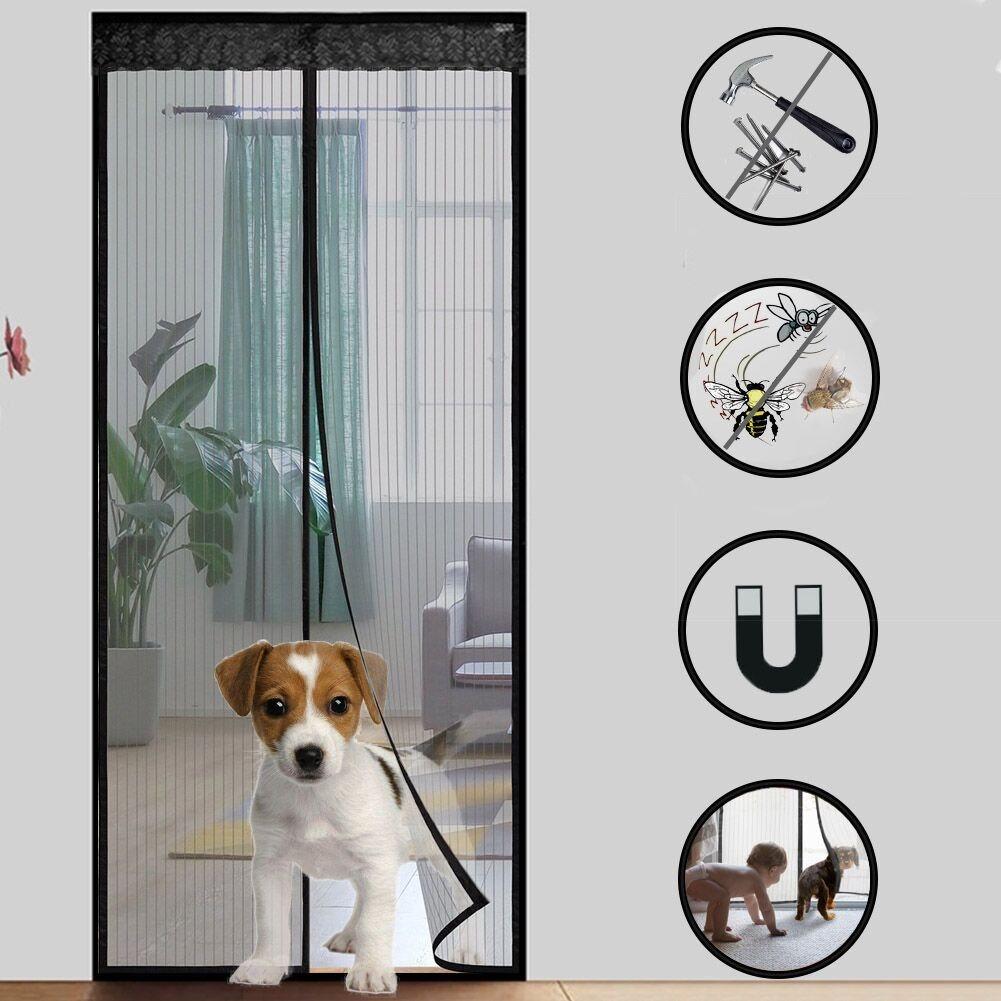 China Magnetic Screen Garage Door Curtain China Magic Mesh Door