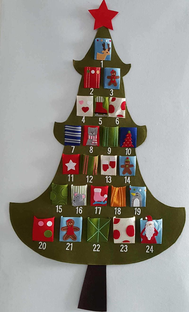 China Hanging Fabric Christmas Advent Calendar Countdown To Christmas Tree China Felt Calendar And Felt Christmas Calendar Price