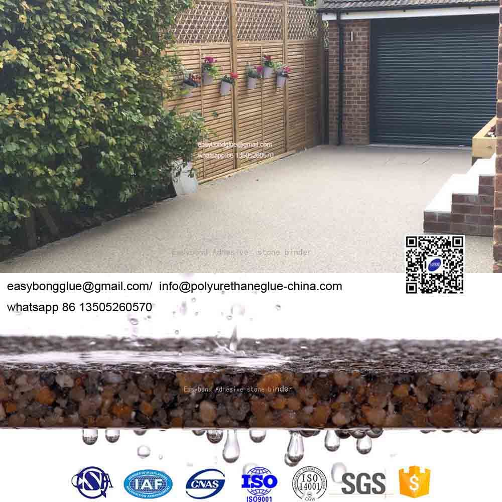 China UV Resistance Resin Bound Surface Driveway Pebble