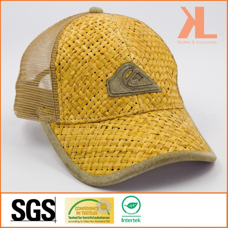 6a40bdbed5f China Straw   Mesh 6 Panel Baseball Summer Cap with Badge on Front - China  Fashion Cap